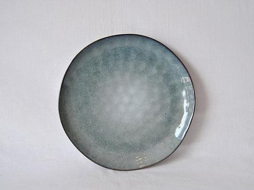 Plato de ceramica azul 29cm Mykonos