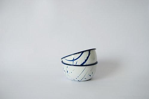 Bowl individual rayado azul