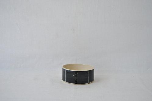 Bowl recto de gres blanco