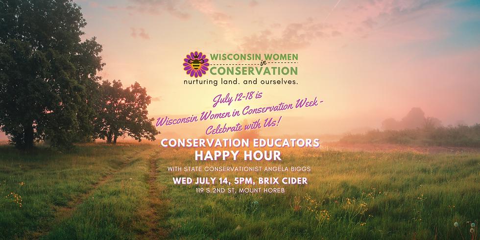 Wisconsin Women in Conservation Educators Happy Hour
