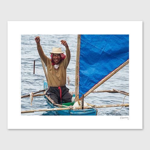 Tirage Fine Art 40x50 cm - Pêcheur Philippin