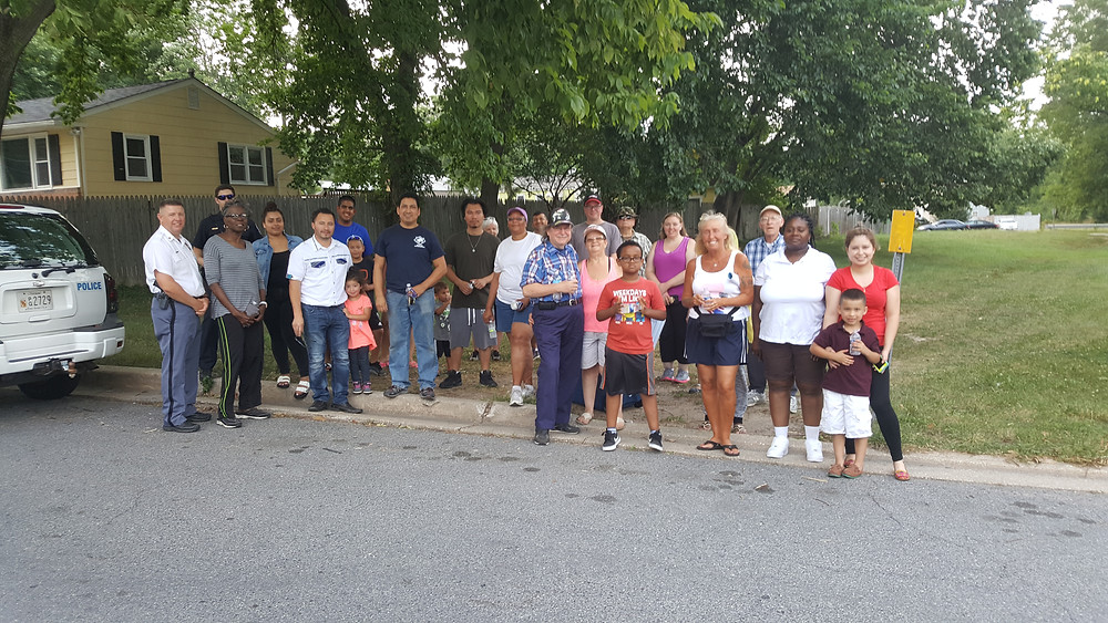 "Members of the Beltsville Heights Neighborhood Watch enjoying a ""Walk Around."""