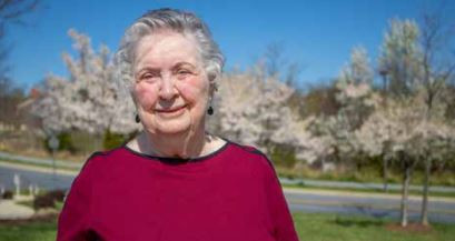 Photo by Christopher Taydus: One of the benefits Rose Cannon appreciates about living at Riderwood is the opportunity to socialize without leaving the community