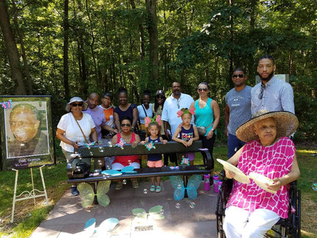 Memorial Bench Dedicated at Beltsville Community Center
