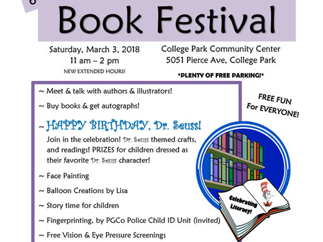 Community Book Festival March 3, 2018