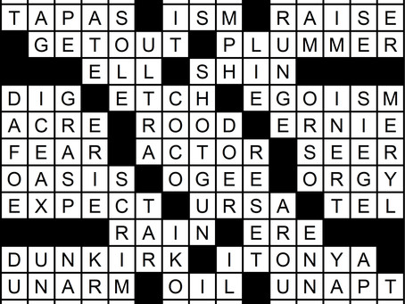 Solution to March's Crossword Puzzle: The Oscars