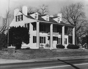 A 1973 photo of the White House Tavern on US 1 in Beltsville, aka Brown's Tavern, built in 1834.