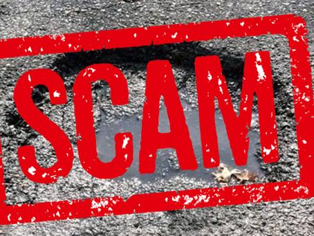 Pothole Scam: Beware