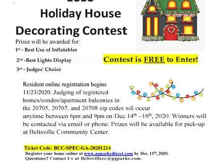 2020 Holiday Lights Contest