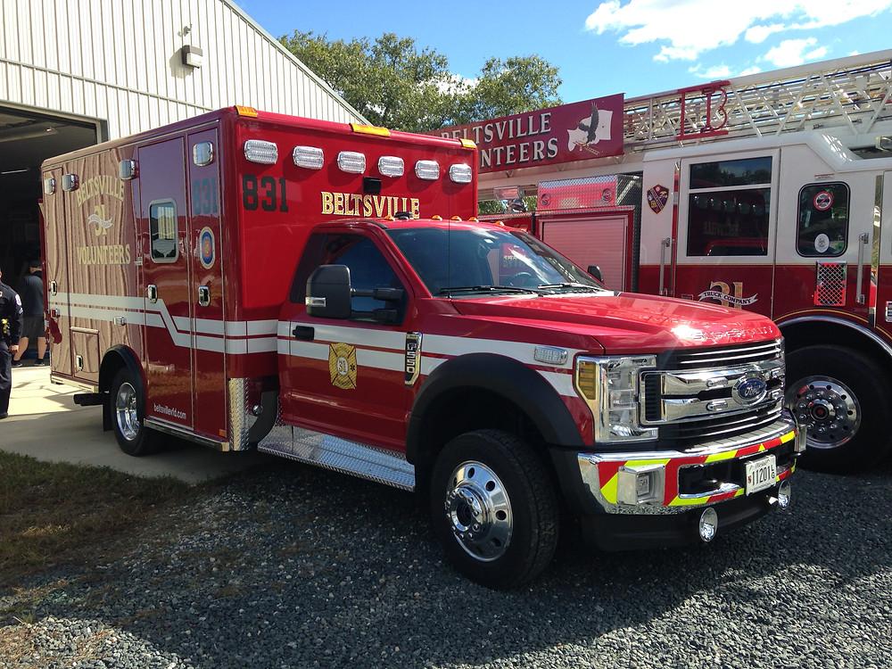Beltsville VFD's newest ambulance!