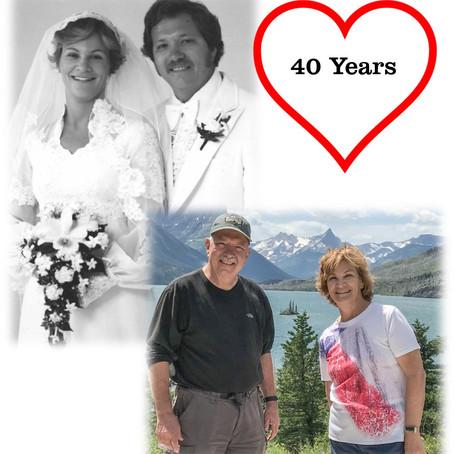 Gary & Francine Bauchan Celebrate 40th Anniversary