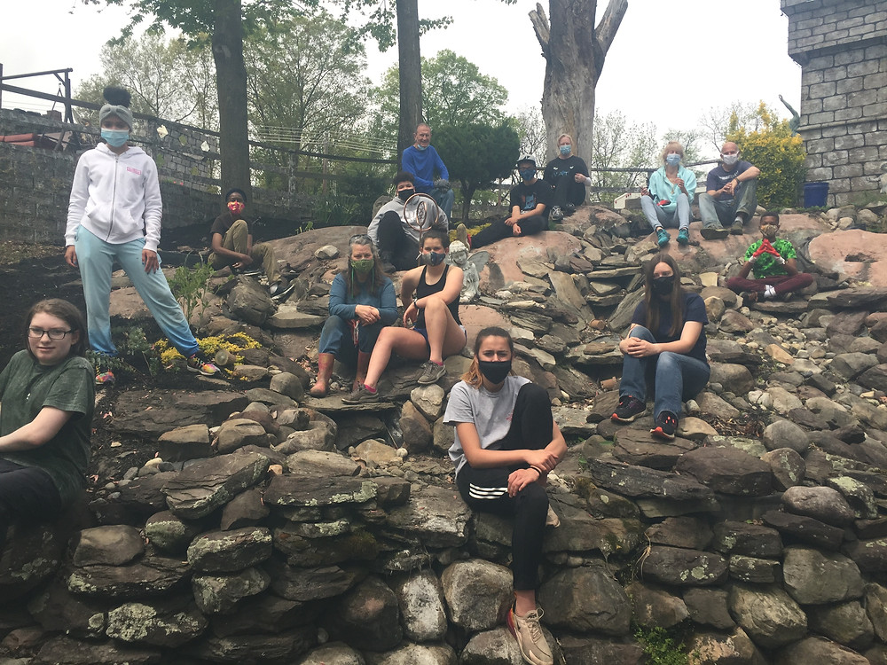 Volunteers from MD, DC and PA help build a community garden at The Good Knight Castle in Beltsville