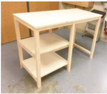 Riderwood Residents Making Desks for Local Students Learning Remotely