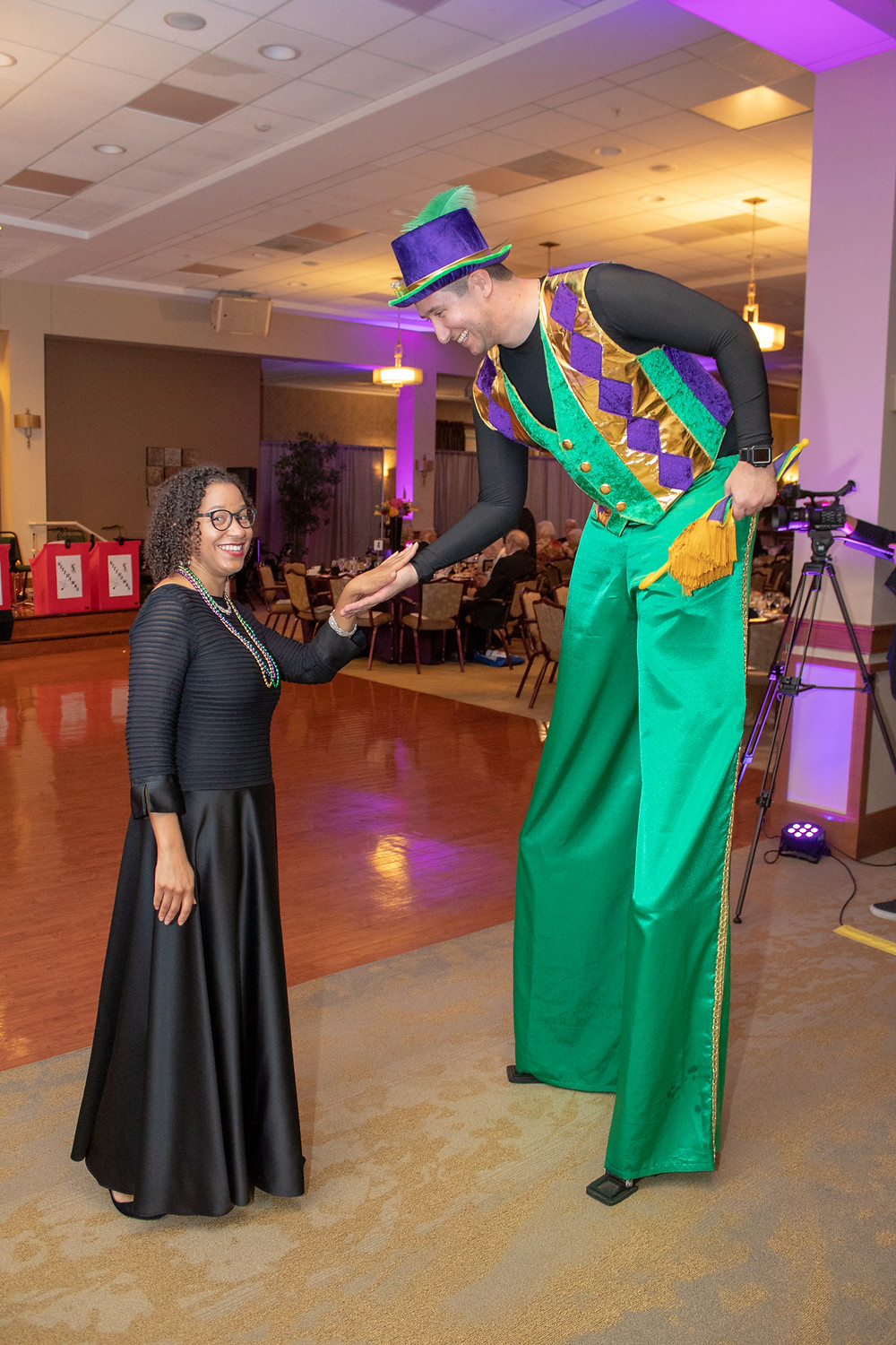 Photo: Associate Executive Director Dee Dee Gray-Weaver having some fun at the Riderwood Gala  (Photos: Chris Taydus)