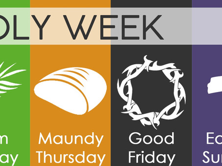Holy Week Schedules for Local Churches
