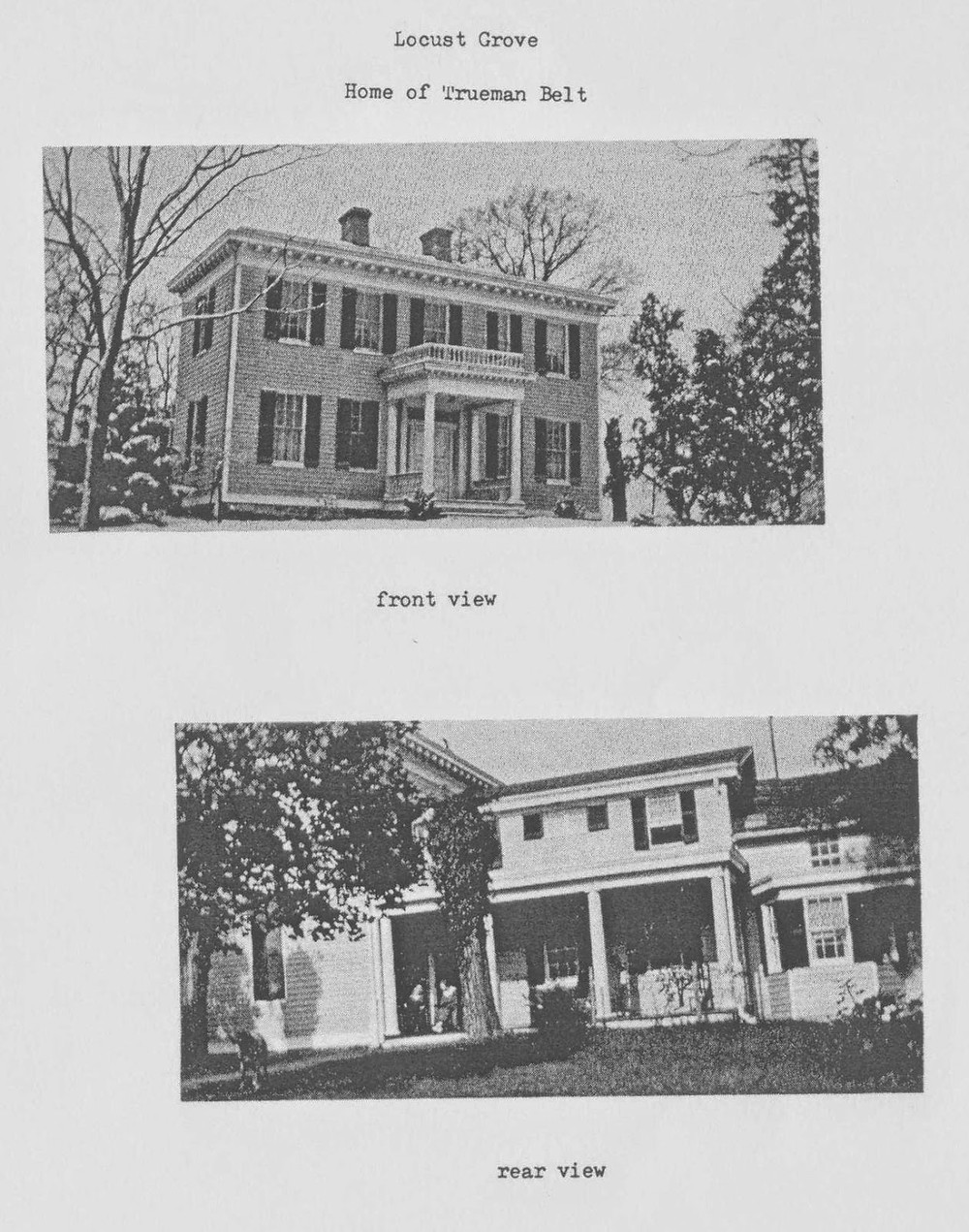 Emack House - Locust Grove image courtesy - DeMarr Library Historian Prince George's County Historical Society