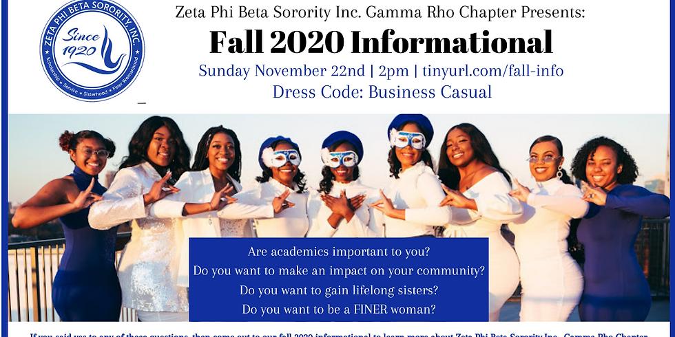 Fall 2020 Informational