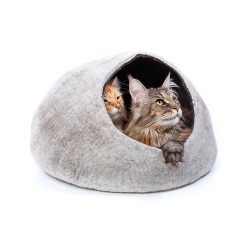 Chocolate Condo for Two- Grey Cat Cave