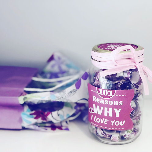 101 Reasons Why I Love You - Personalized Jar