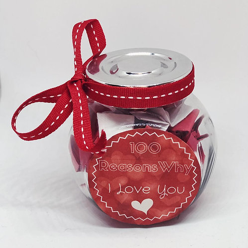 100 Reasons Why I Love You - Personalized Jar
