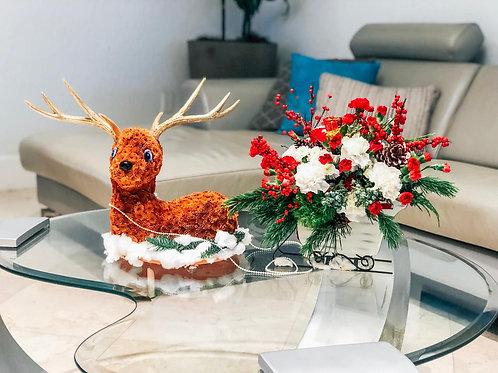 Christmas Deer Flower Toy