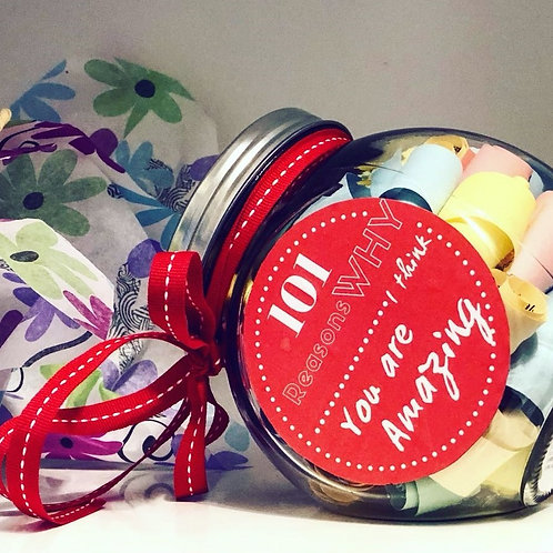 101 Reasons Why You are Amazing -Personalized Jar