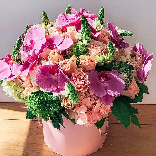 """""""I miss you"""" Flower Hatbox"""
