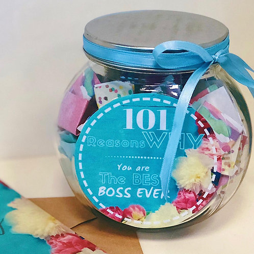 101 Reasons Why You are the Best Boss Jar