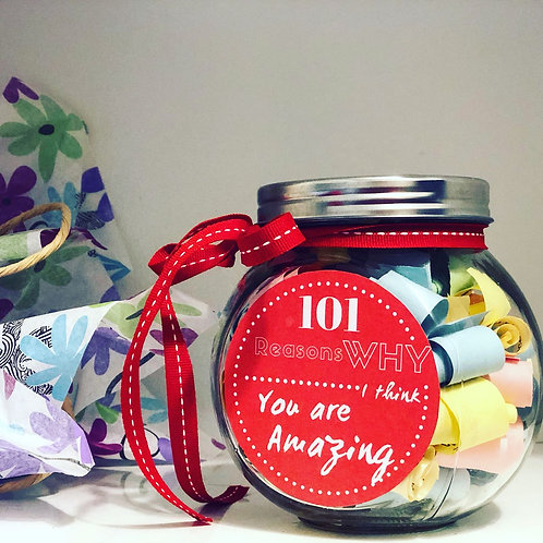 101 Reasons Why You are Amazing - Personalized Jar