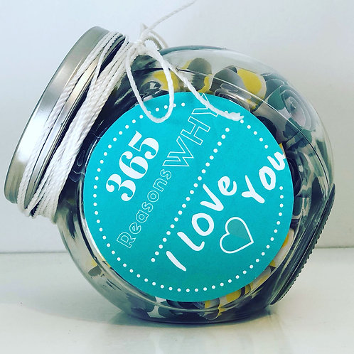 365 Reasons Why I Love You - Personalized Jar
