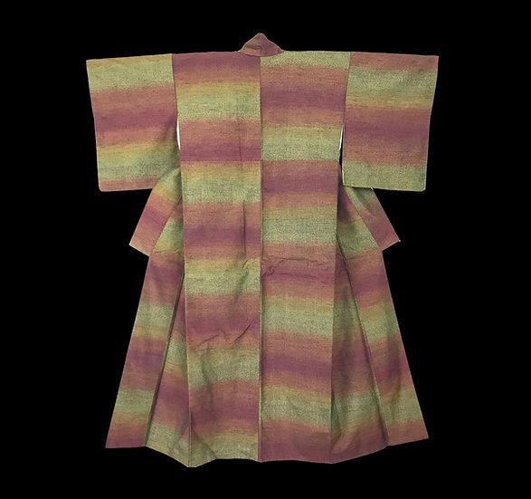 Kimono Tsumugi Oshima, soie, île de Amami-oshima, Japon, avant 1950