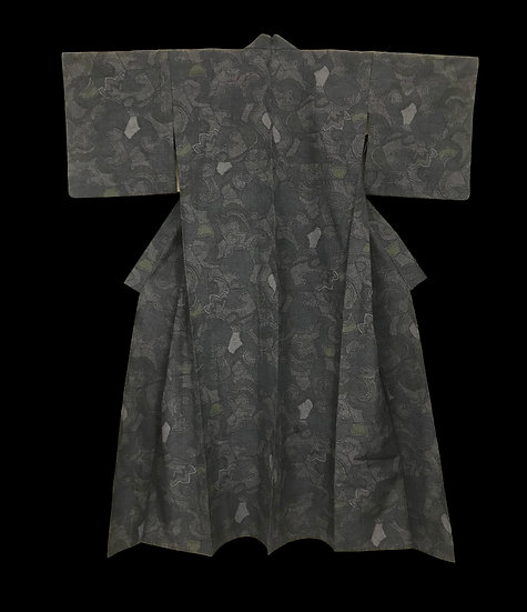 Kimono ancien, ére Showa, en soie, vers 1950, parfait état