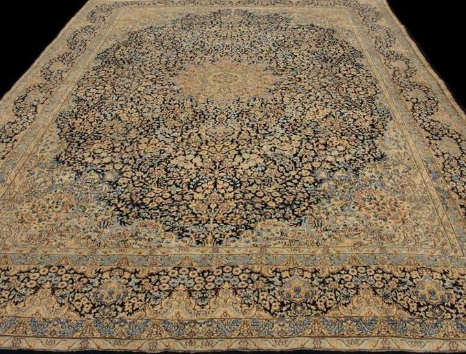Tapis Persan Kirman, 234 cm x 351 cm, Iran,1930, laine kork,