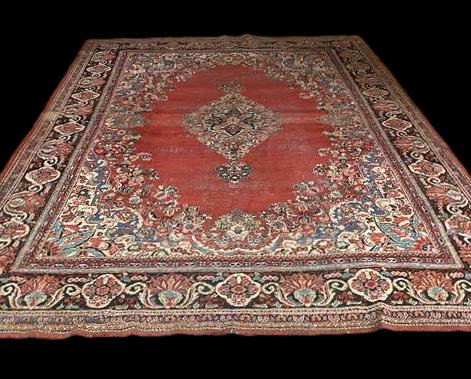 Tapis Persan Kashan ancien, 265 cm x 377 cm, Iran, fin du XIXème