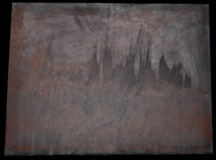 Erwin STEINBACH, technique mixte sur toile, 80 x 60 cm