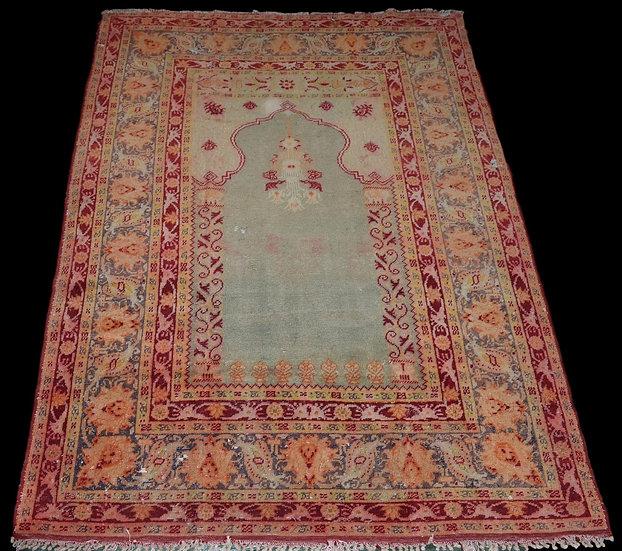 Tapis de Prière , Istanbul ou Brousse, Turquie, 122 Cm X 173 Cm, Début Du XIXème