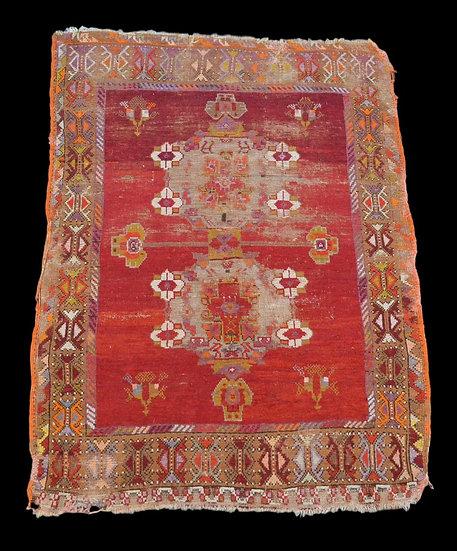 Tapis Oushak ancien, Anatolie, Turquie, 115 cm x 155 cm, fin du XVIIIème siècle
