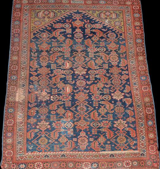 Tapis Tchi tchi de prière, Caucase, daté de 1924, 142 cm x 193 cm, XXème siècle