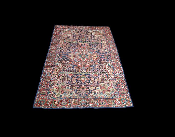 Tapis Persan Sarough Ancien, 130 cm x 196 cm, Iran, rare aménagement de décor, d