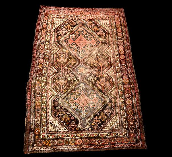 Tapis gashghaï, Iran, laine sur laine, 136 cm x 201 cm, XIXème siècle