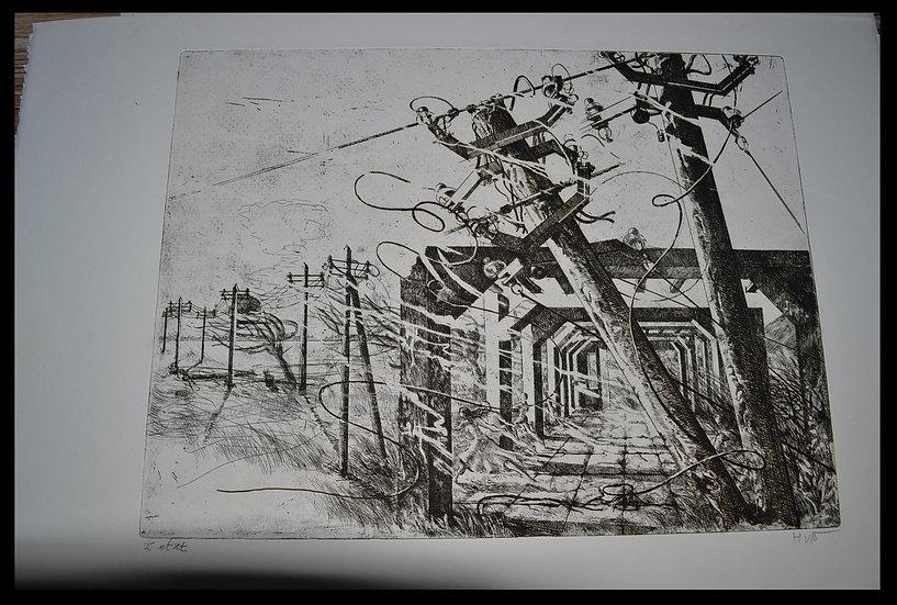 """Hilda VAN NORDEN (1922-2017), Gravure """" Rêve 6 """" , 1983"""