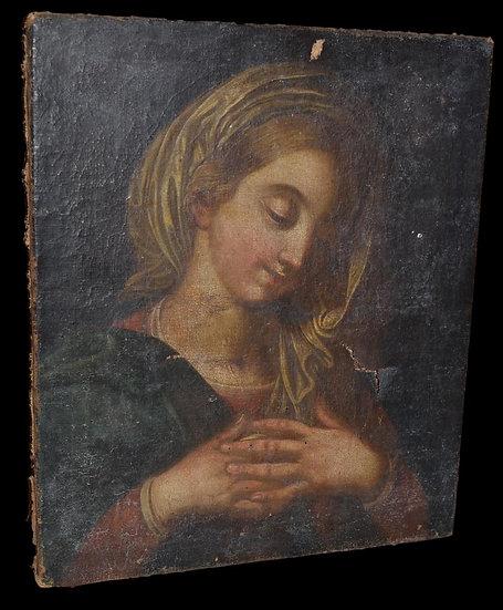 Portrait De Jeune Femme - Italie ou Provence - XVIIème Siècle