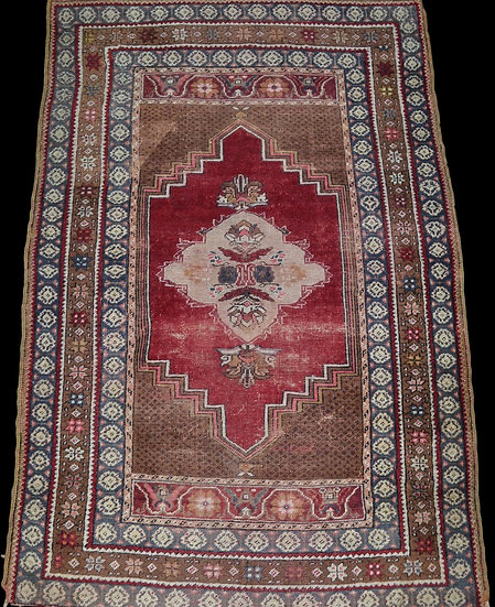 """""""Tapis Nuptial Kiz-bergama, Anatolie, Turquie, 108 cm X 163 cm, Vers 1920"""""""