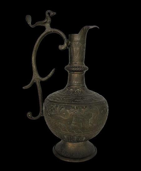 Aiguière en Cuivre au Repoussé, Indo-persan, fin du XIXème, début du XXème