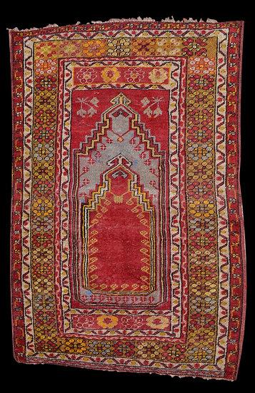 Tapis Kirsehir Ancien de prière, Anatolie, Turquie, 88 cm x 126 cm,XIXème siècle