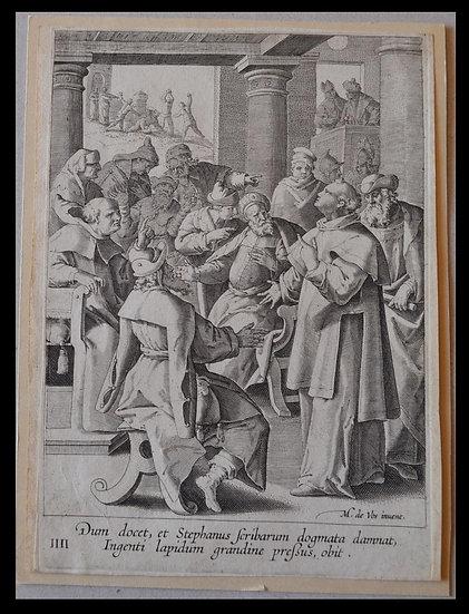 Johannes SADELER (1550-1600) , Gravure de 1590