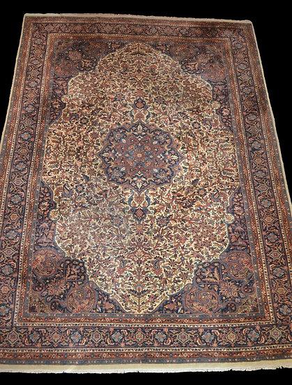 """""""Tapis Indo-persan, 247 cm x 352 cm, laine nouée main vers 1970, en très bon éta"""