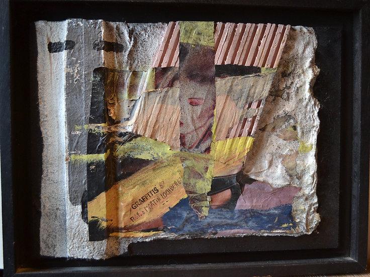 "Jacques MARTIN LOCHBERG ( 1948 - ) - "" Graffiti Collage "" - 1987"