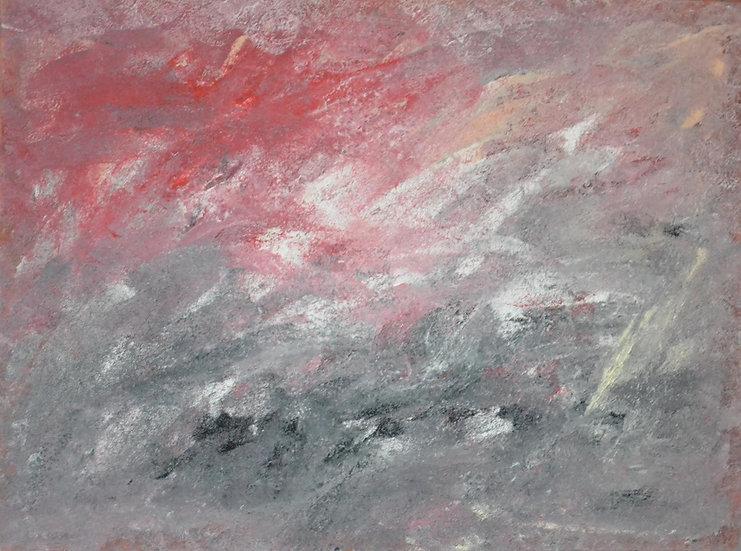 """Erwin STEINBACH, """" Paysage du Revest sous la neige """""""