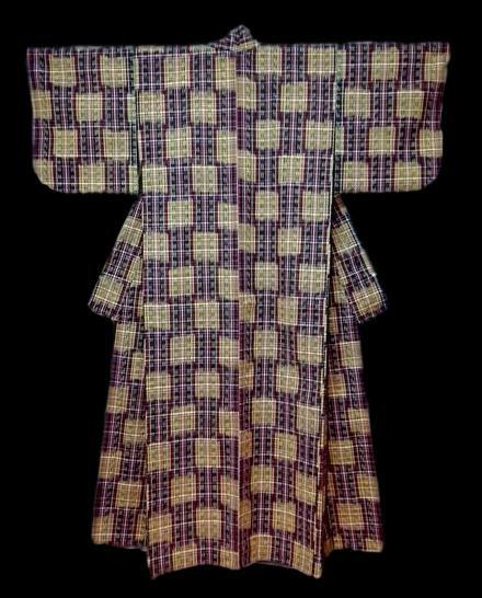 Kimono TSUMUGI en laine, Japon vers 1950/1960, parfait état